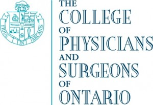 Regulation by The College of Physicians and Surgeons of Ontario